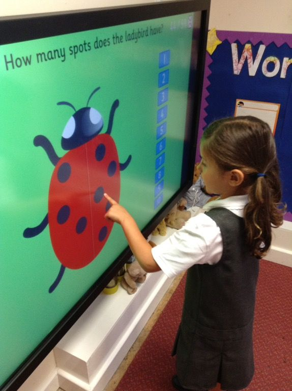 Counting on the interactive whiteboard